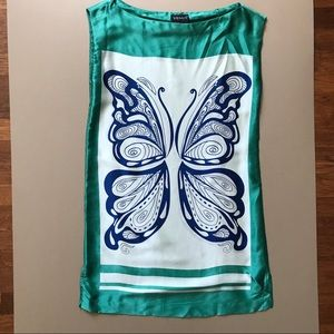 Venus 100% Silk Butterfly Scarf Dress 4